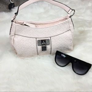 NEW baby pink guess purse